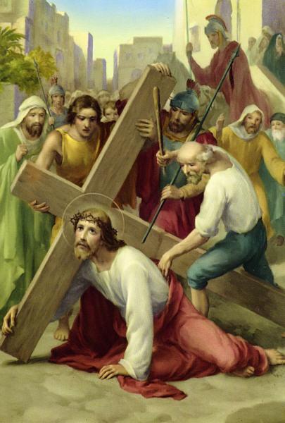 Ntoo Cuam Txoj Kev Jesus_falls_first_time